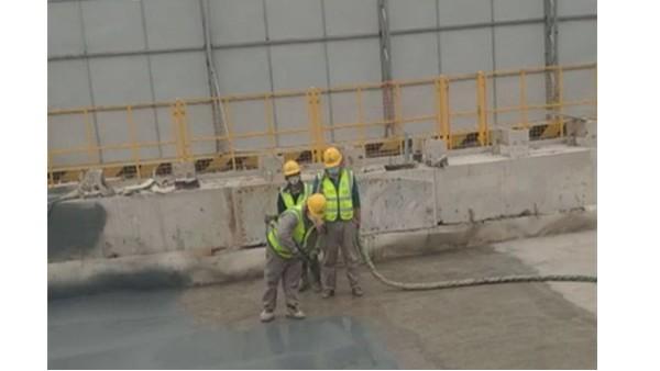 金鸡湖海底湖底隧道防水工程鲁蒙喷涂聚脲弹性体防水涂料