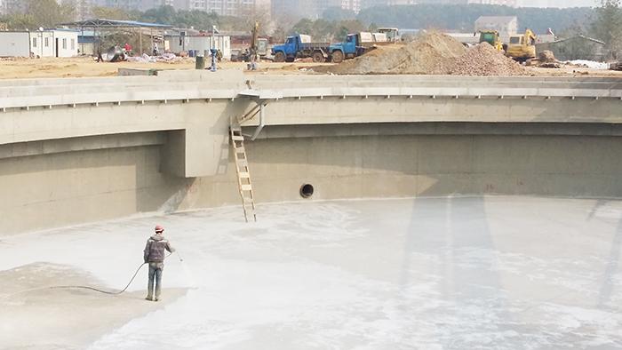武汉龙王嘴污水处理厂-鲁蒙防水工程案例