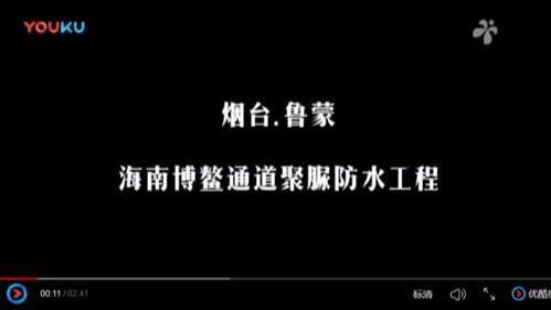 博鳌通道聚脲防水工程视频