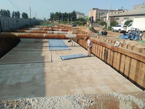 鲁蒙PE自粘防水卷材亮相河北辛集管廊防水工程