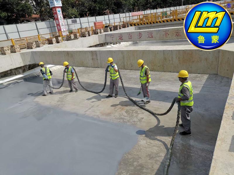 鲁蒙助力金鸡湖隧道主体结构聚脲防水施工
