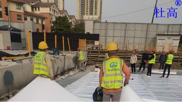 金鸡湖湖底隧道顶部防水工程-杜高HDPE阻根型防水卷材