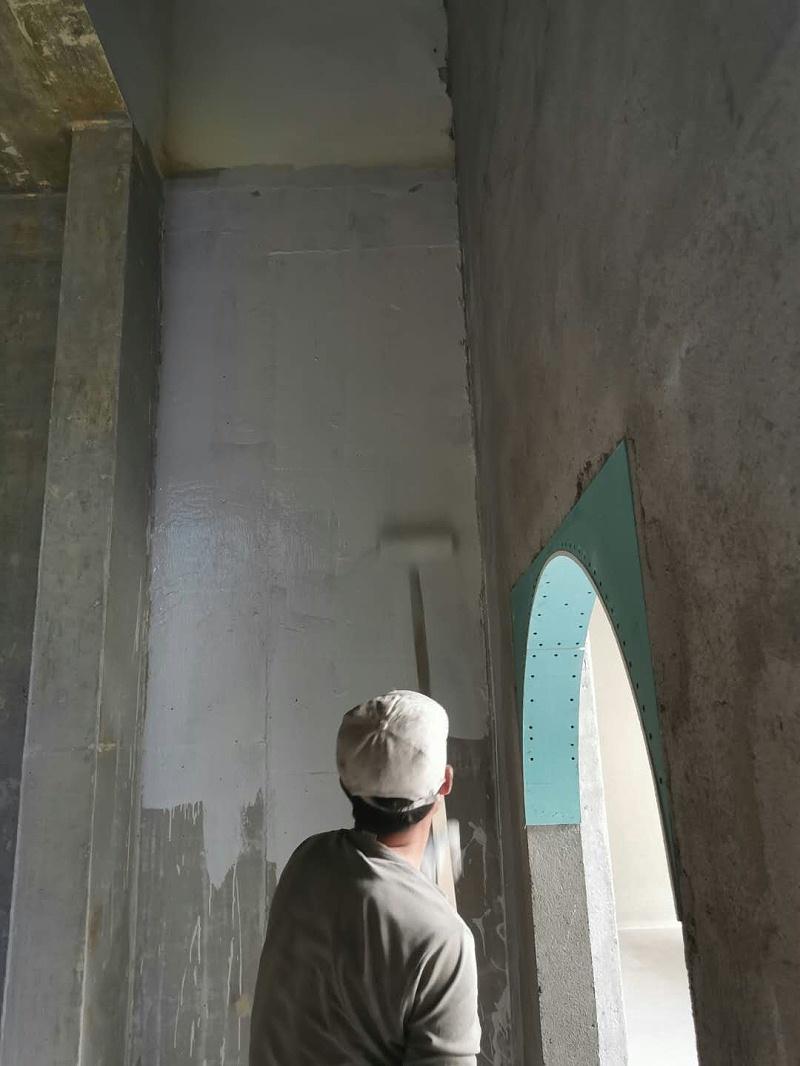 鲁蒙LM-II复合防水涂料在龙湖滟澜海岸地下室的应用